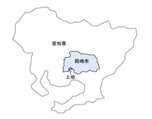 岡崎市上地地図